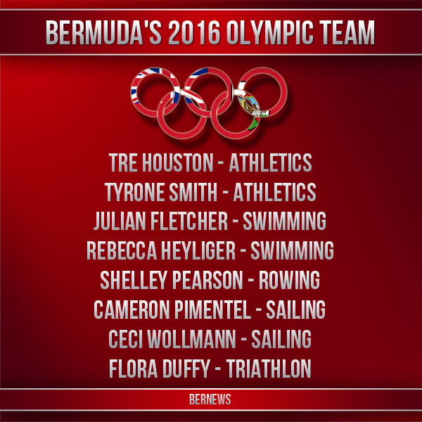 Bermuda's 2016 Olympic Team IG2