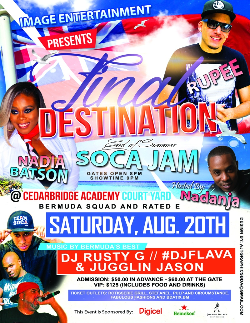 Final Destination Soca Jam Bermuda August 10 2016