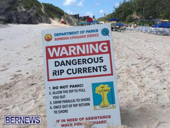 Horseshoe Bay Beach Rip Currents Do Not Enter Water Bermuda (1)