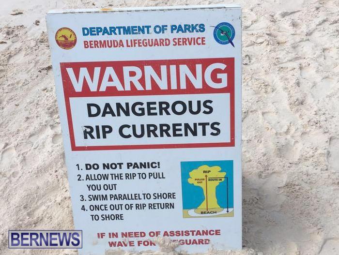 Horseshoe Bay Beach Rip Currents Do Not Enter Water Bermuda (2)