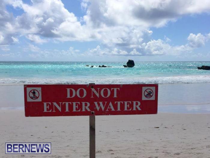 Horseshoe Bay Beach Rip Currents Do Not Enter Water Bermuda (3)