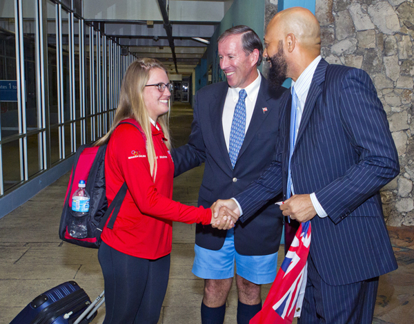 Minister 2016 Rio Olympics Team Return Bermuda August 25 2016 3