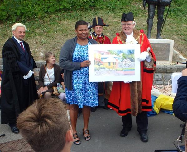 New Statue at Lyme Regis Bermuda August 2016 (2)
