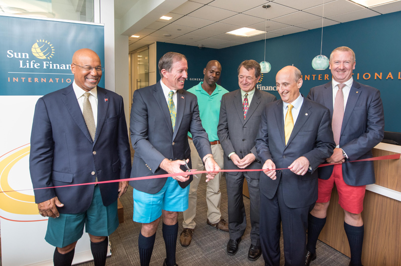 Sun Life Financial International Ribbon Cutting Bermuda August 18 2016