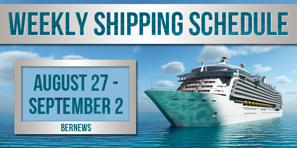 Weekly Shipping Schedule Bermuda TC August 27 - September 2 2016