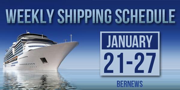 Weekly Shipping Schedule Bermuda TC January 21 - 27 2017