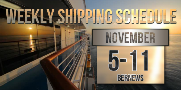 Weekly Shipping Schedule Bermuda TC November 5 - 11 2016