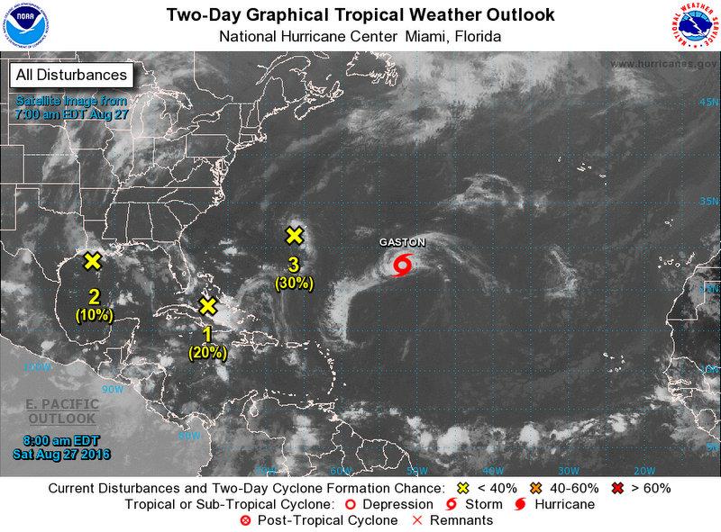 weather disturbances August 27 2016