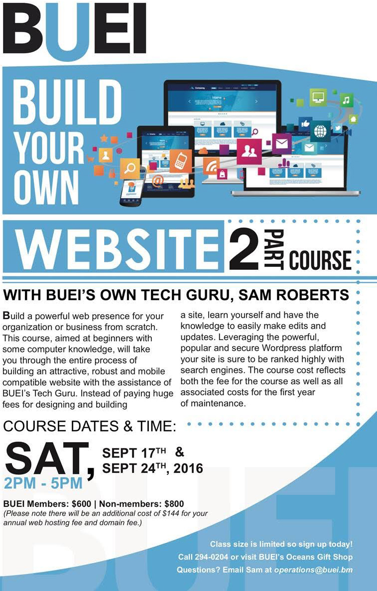 Buei To Host Build Your Own Website Course Bernews