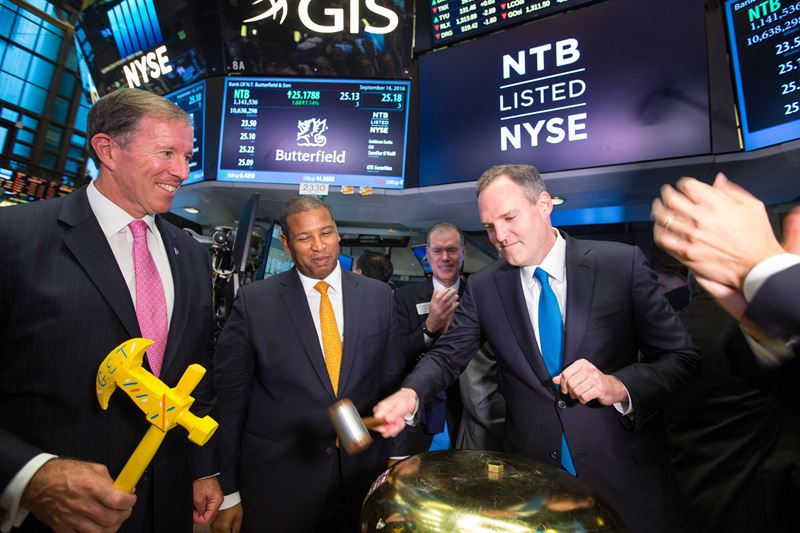 Butterfield IPOOpening Bell NYSE (3)