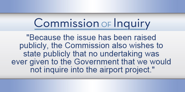 Commission of Inquiry Bermuda TC September 27 2016