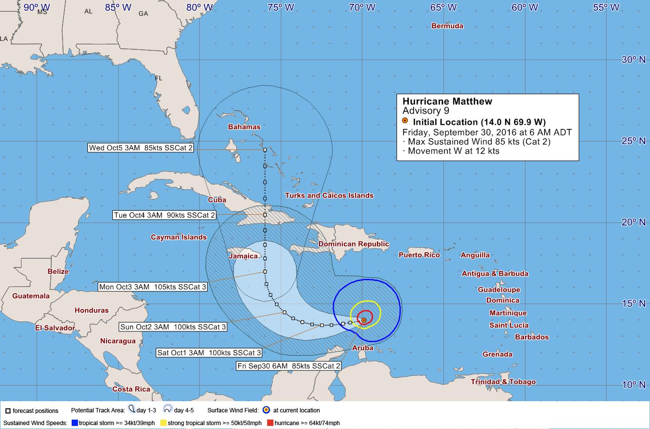 Hurricane Matthew September 30 2016