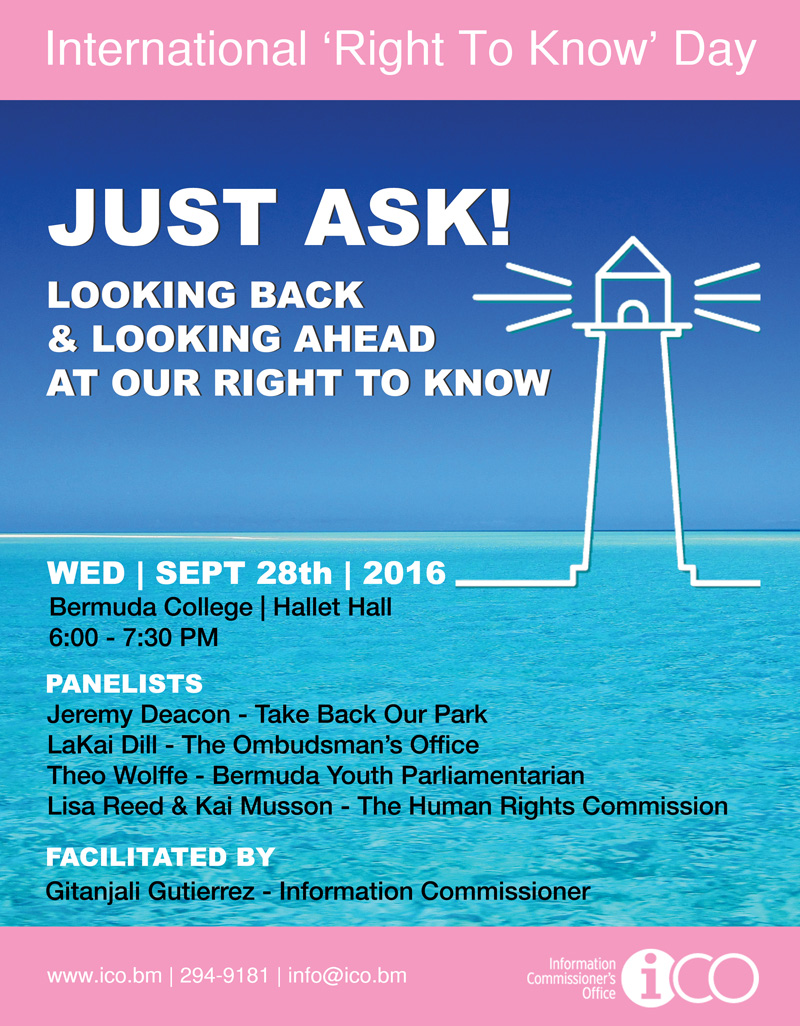 Just Ask ICO Panel Bermuda September 27 2016