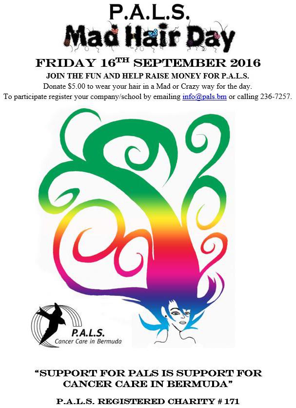 PALS Mad Hair Day Bermuda Sept 13 2016