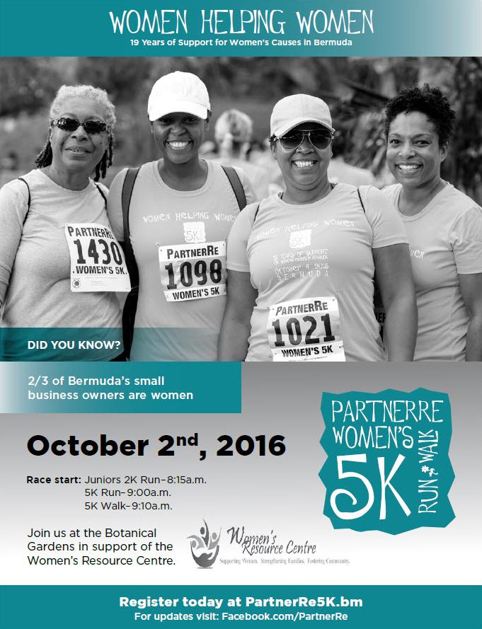 PartnerRe Womens 5K Run and Walk  Bermuda September 26 2016