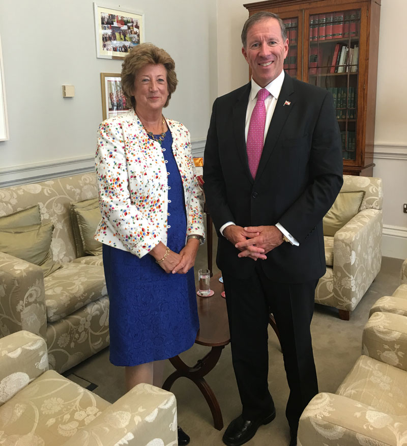 Premier Dunkley with Baroness Anelay