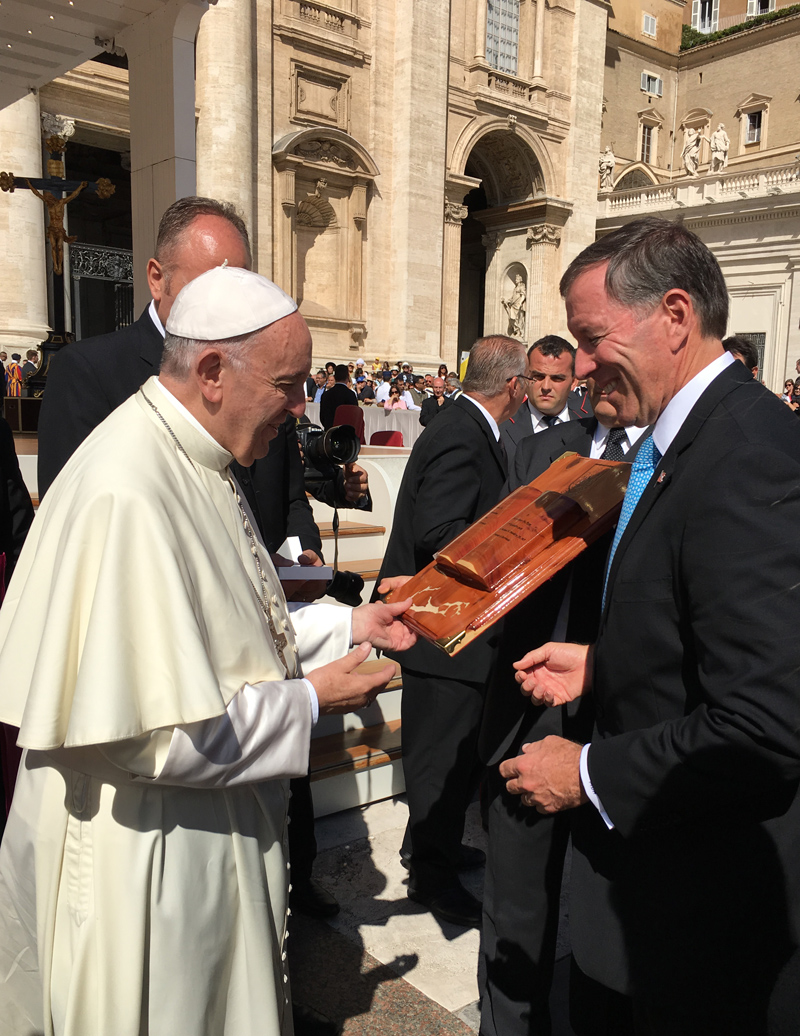 Premier and Pope Francis September 7 2016 (1)