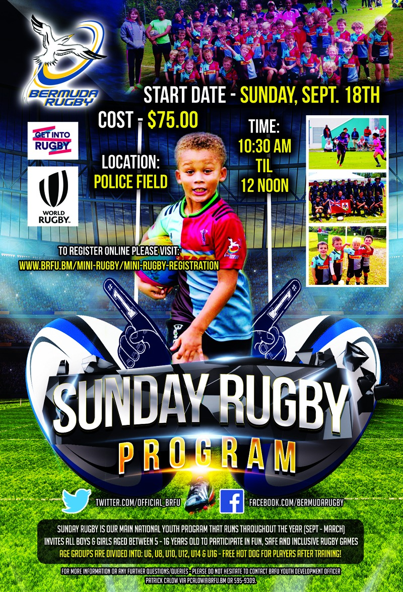 Sunday Rugby Bermuda Sept 7 2016