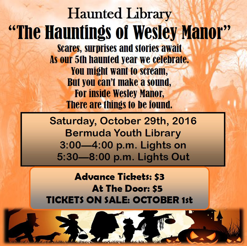 Haunted Library promo Bermuda October 2016