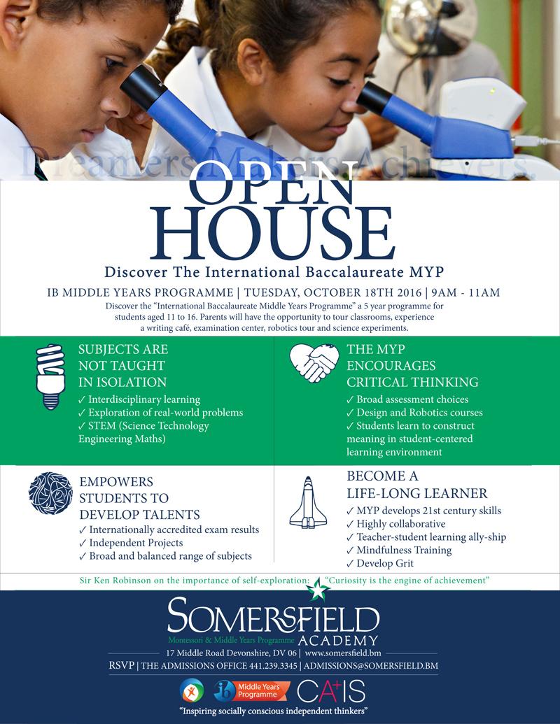 Open House MYP Bermuda October 2016