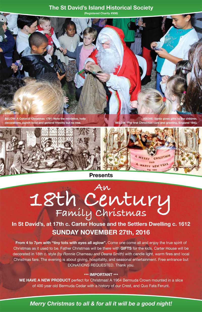 18th Century Family Christmas Bermuda Nov 2016