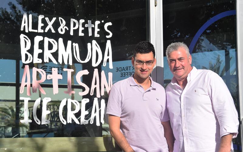 Alex and Pete Artisan Ice Cream Bermuda Nov 8 2016 (1)