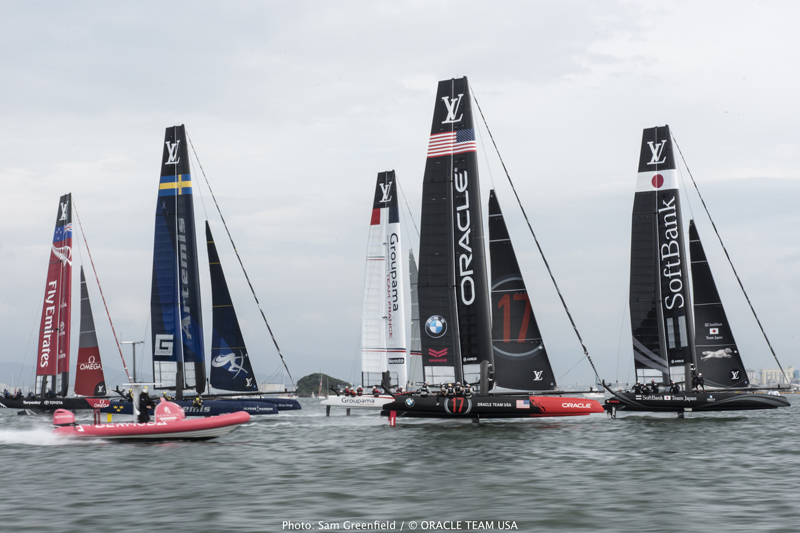Race Day 1 at Louis Vuitton America's Cup World Series Fukuoka
