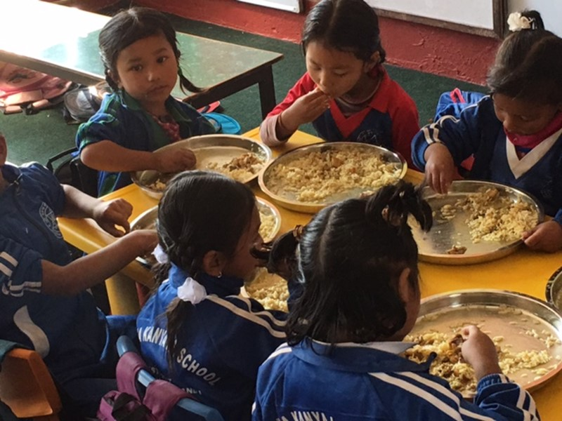 Children eating Food for Education