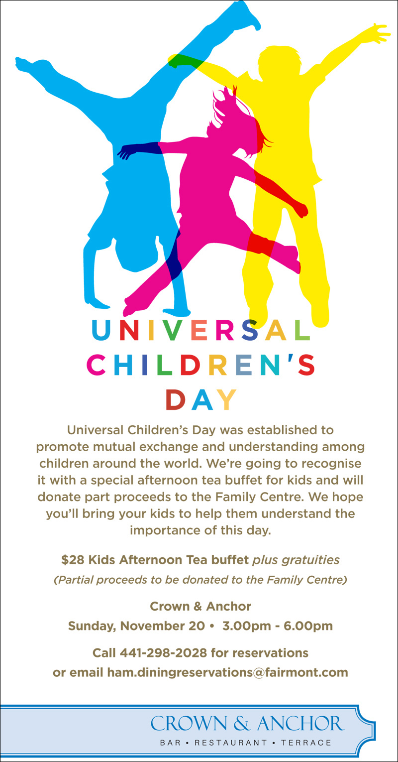 Kid's Afternoon Tea Buffet Bermuda November 2016