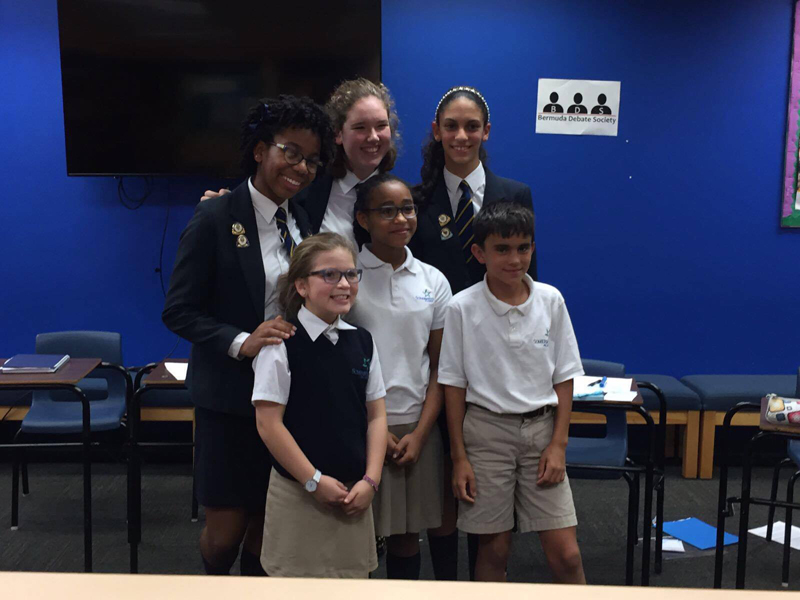 Middle School finalists Bermuda Nov 28 2016