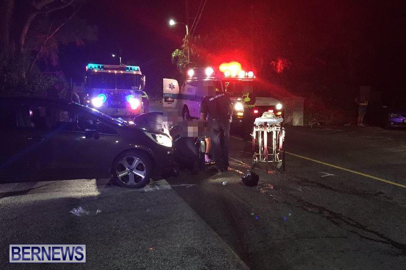 Montpelier Road Collision Bermuda, November 15 2016 (1)