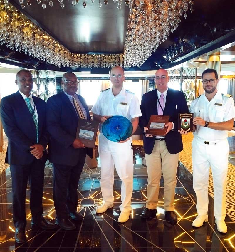 Officials Welcome Seven Seas For First Visit Bernews