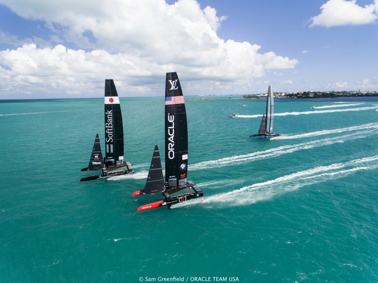 Bart's Bash - ORACLE TEAM USA training in Bermuda for the AC45S