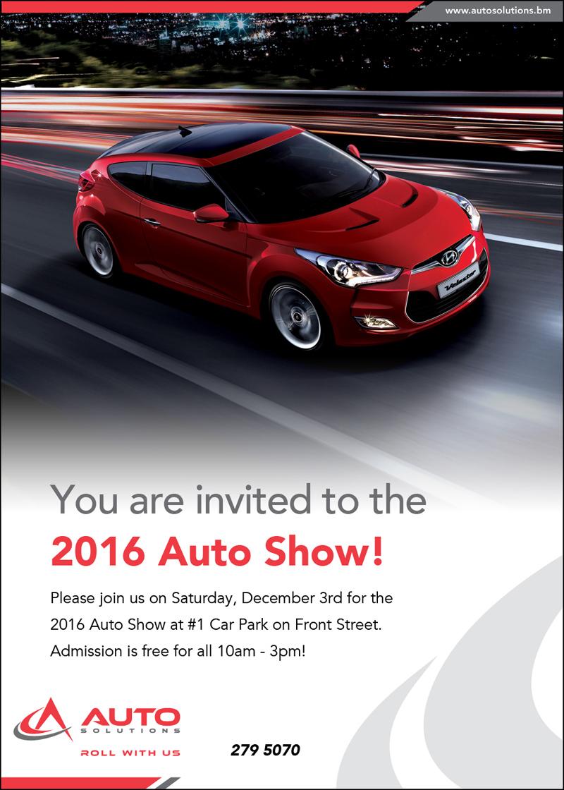 Auto Show Invite Bermuda December 2016