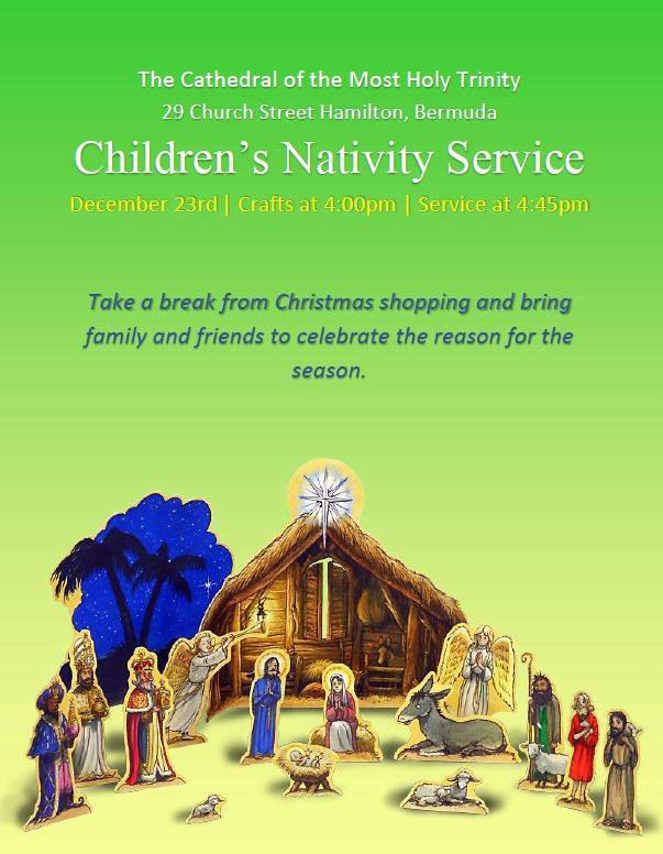 Children's Nativity Service Bermuda December 2016