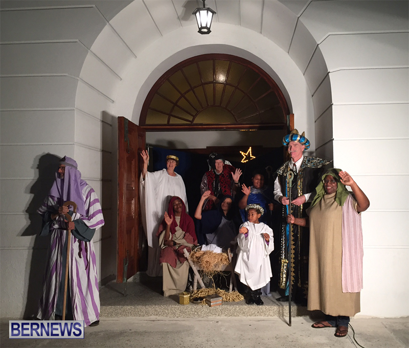 'Live Nativity' at Wesley Methodist Church Bermuda December 2016