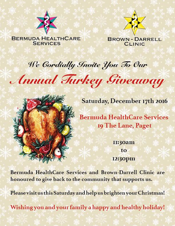 Turkey Giveaway Bermuda December 2016