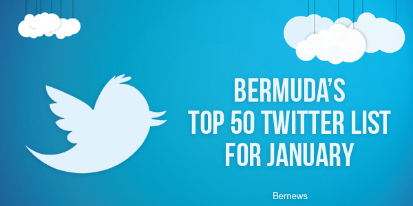 Bermuda's Top 50 twitter list for January