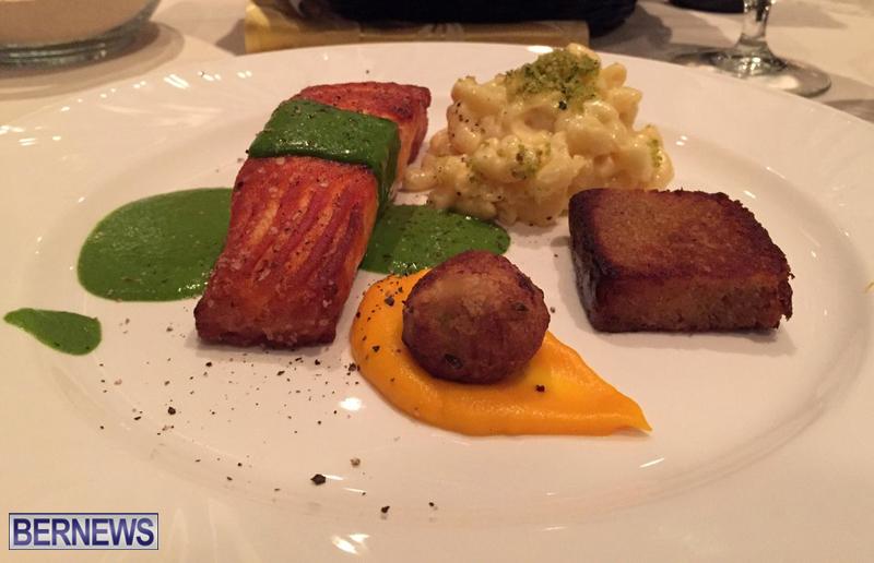 Cafe Lido Bermuda Restaurant RW Pan Seared Salmon January 2017