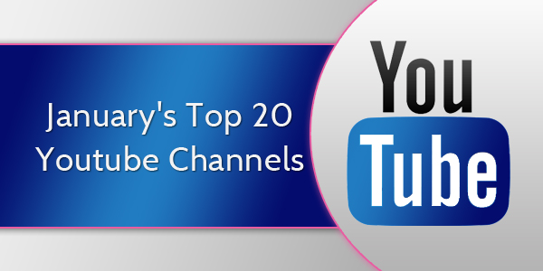 January's Top 20 Youtube Channels 2017