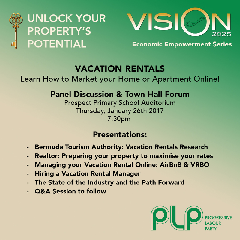 PLP Economic Empowernment Event Bermuda January 2017
