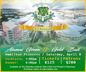 Berkeley Institute Green and Gold Ball Bermuda February 2017