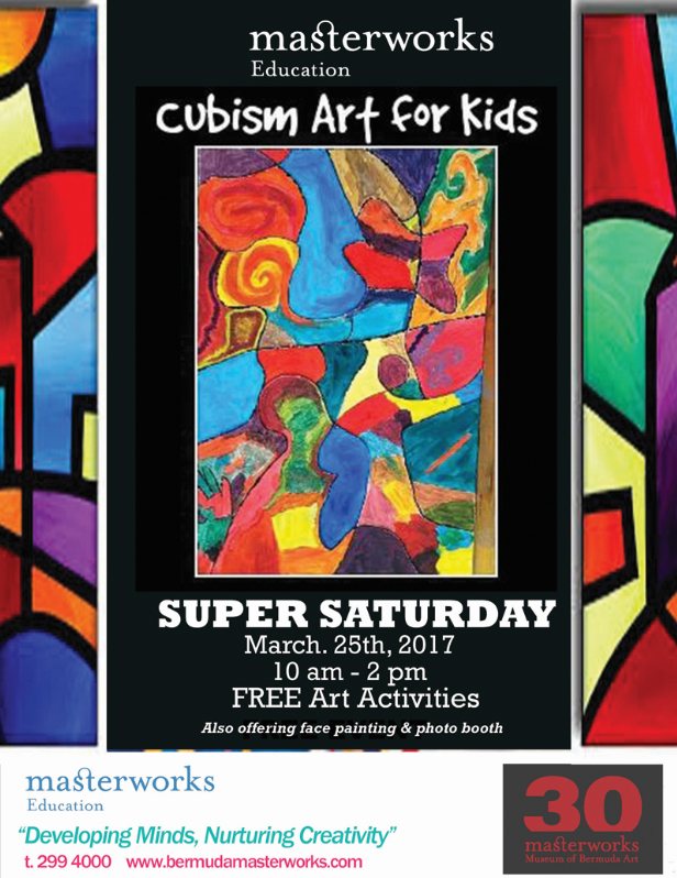 Cubism Art for Kids Bermuda February 2017