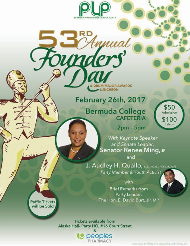 PLP Founders Day Bermuda February 2017