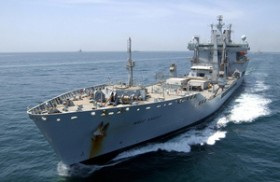 Royal Fleet Auxiliary RFA Wave Knight Bermuda February 2017