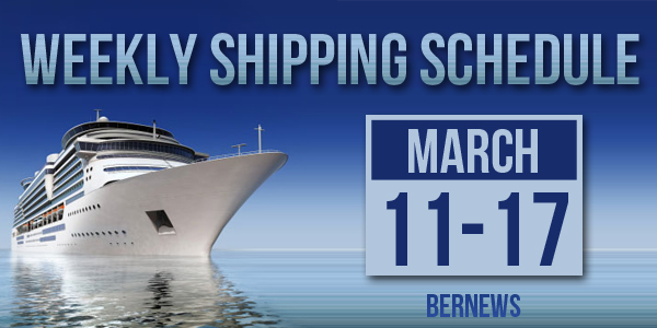 Weekly Shipping Schedule Bermuda TC March 11 - 17 2017