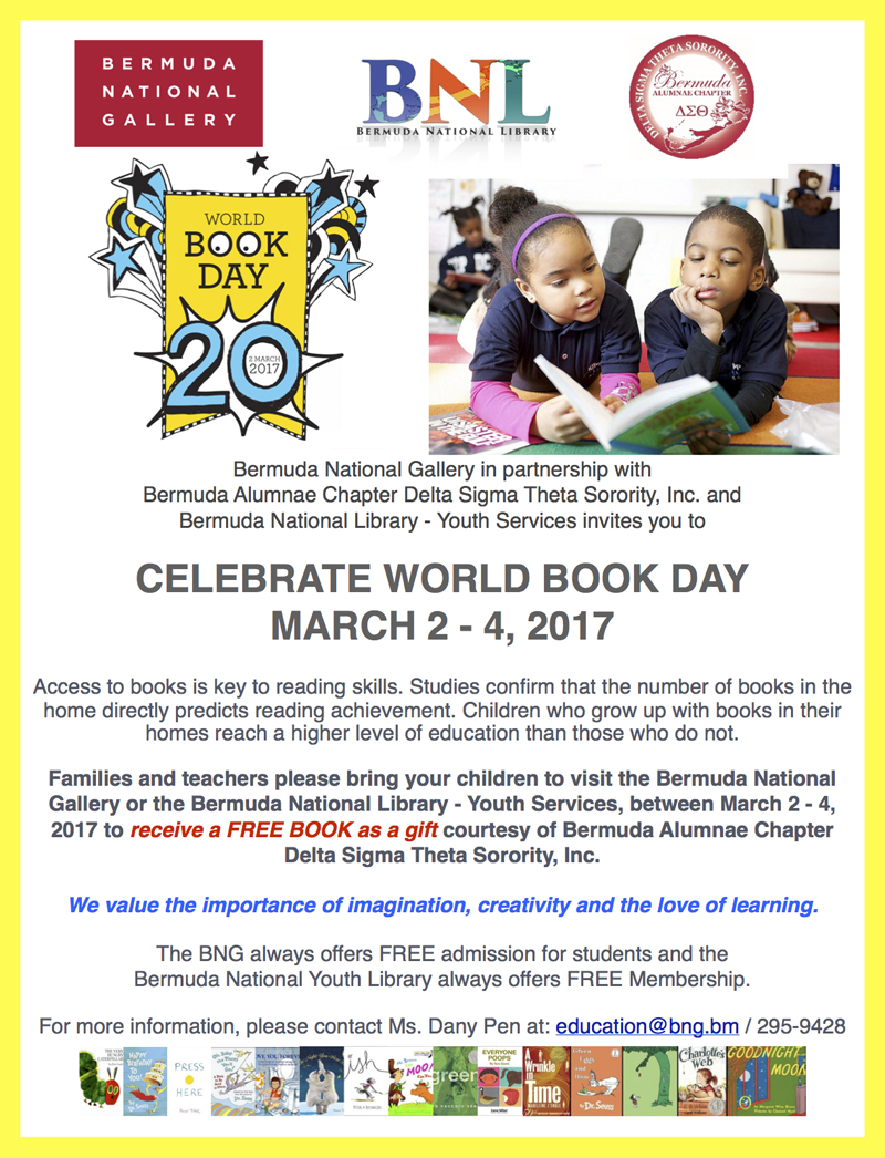 World Book Day Bermuda March 2 2017