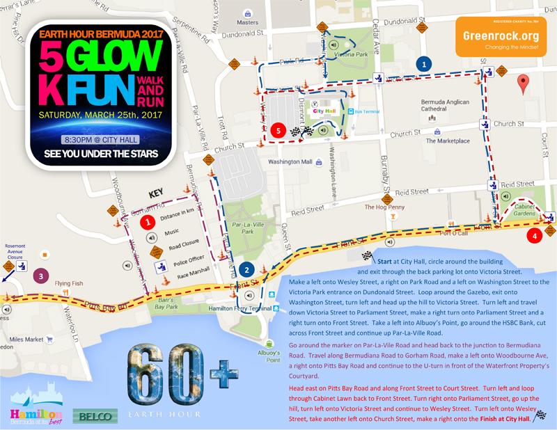5K Glow Fun Walk & Run 2017 Course Details Bermuda March 2017