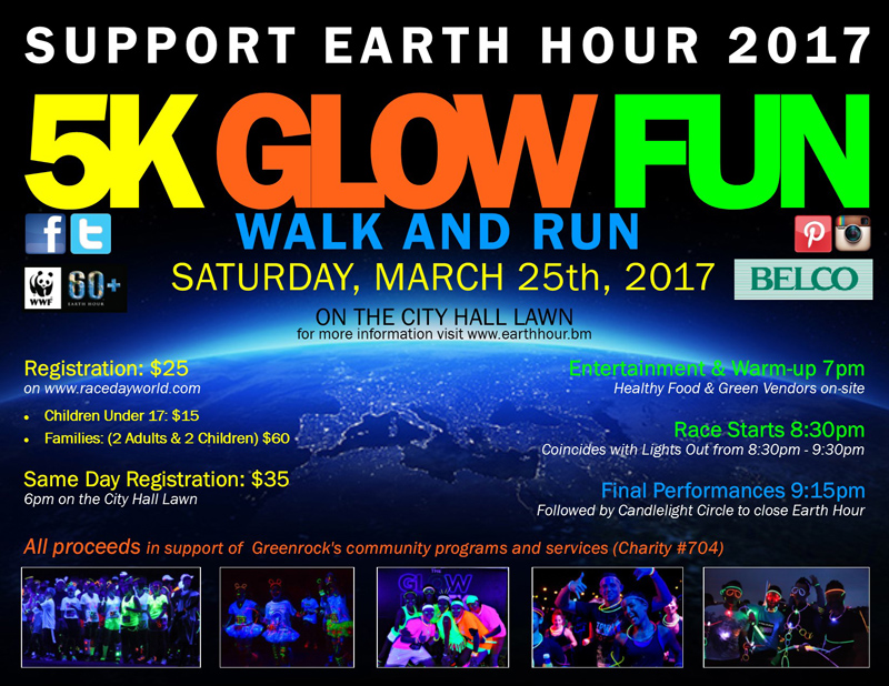 5K Glow Fun Walk and Run Bermuda March 2017