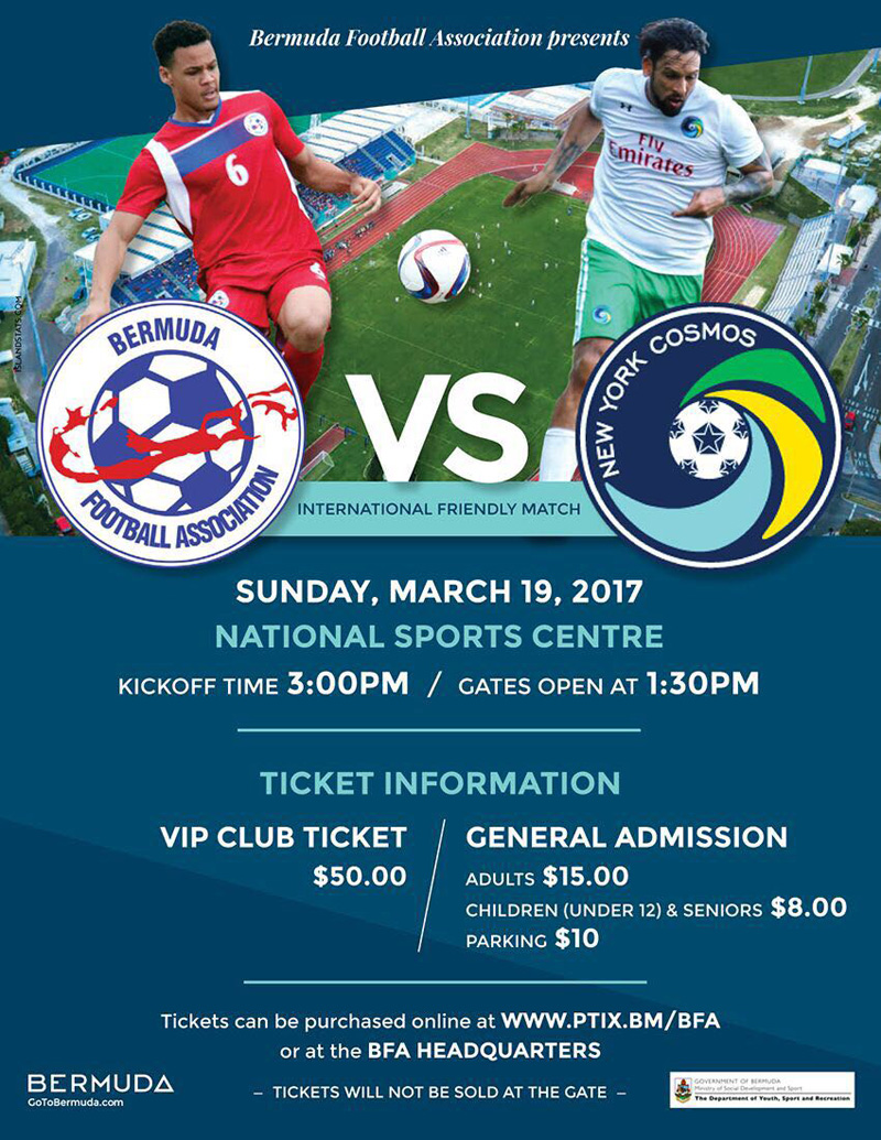 Bermuda vs NY Cosmos March 2017